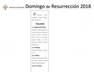 Procesion Domingo de Resurrección Semana Santa Málaga 2018